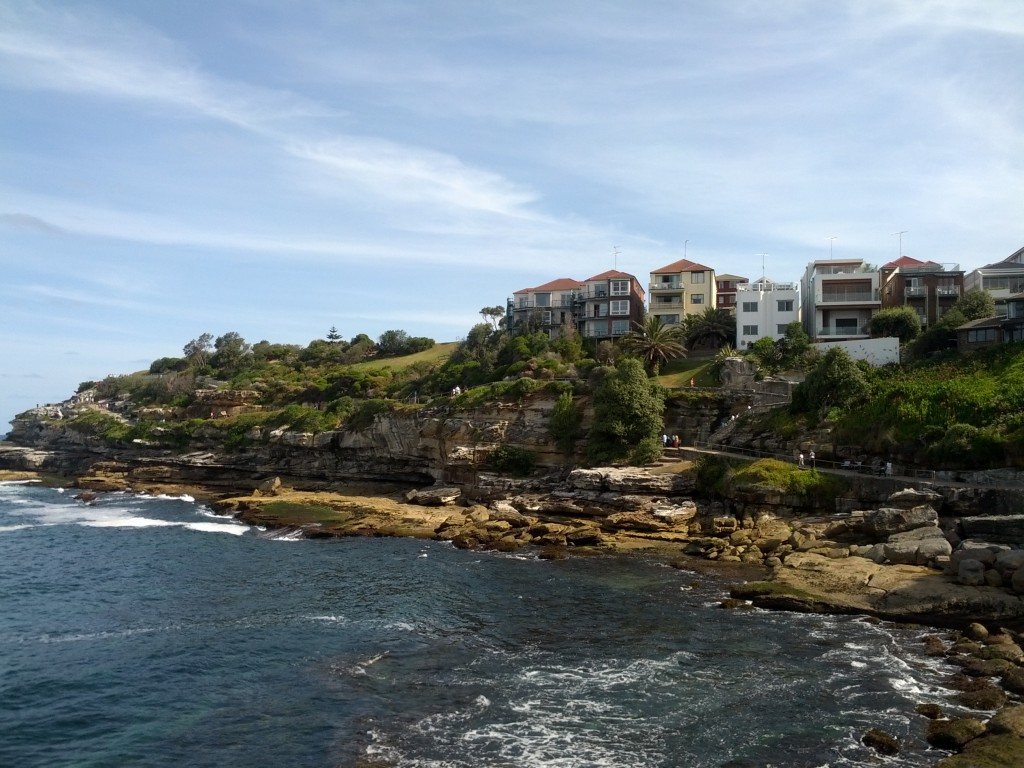 Walkway from the southern end of Bondi Beach.