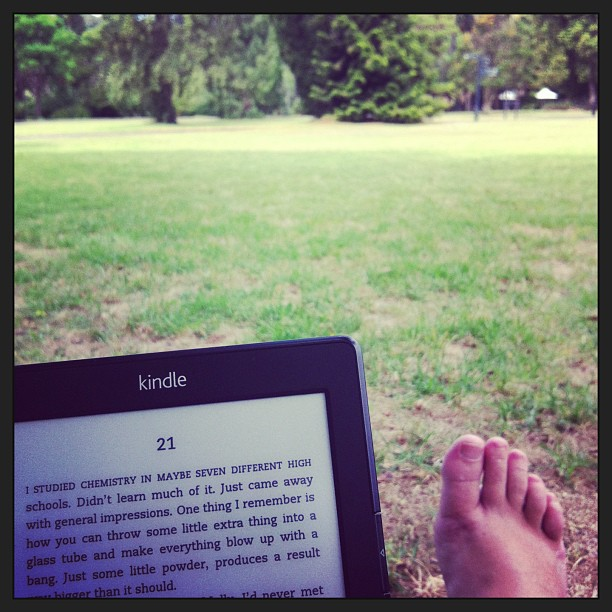 Kindle in the park. [lovingly stolen from Lisa's instagram feed since I forgot to take a picture myself]