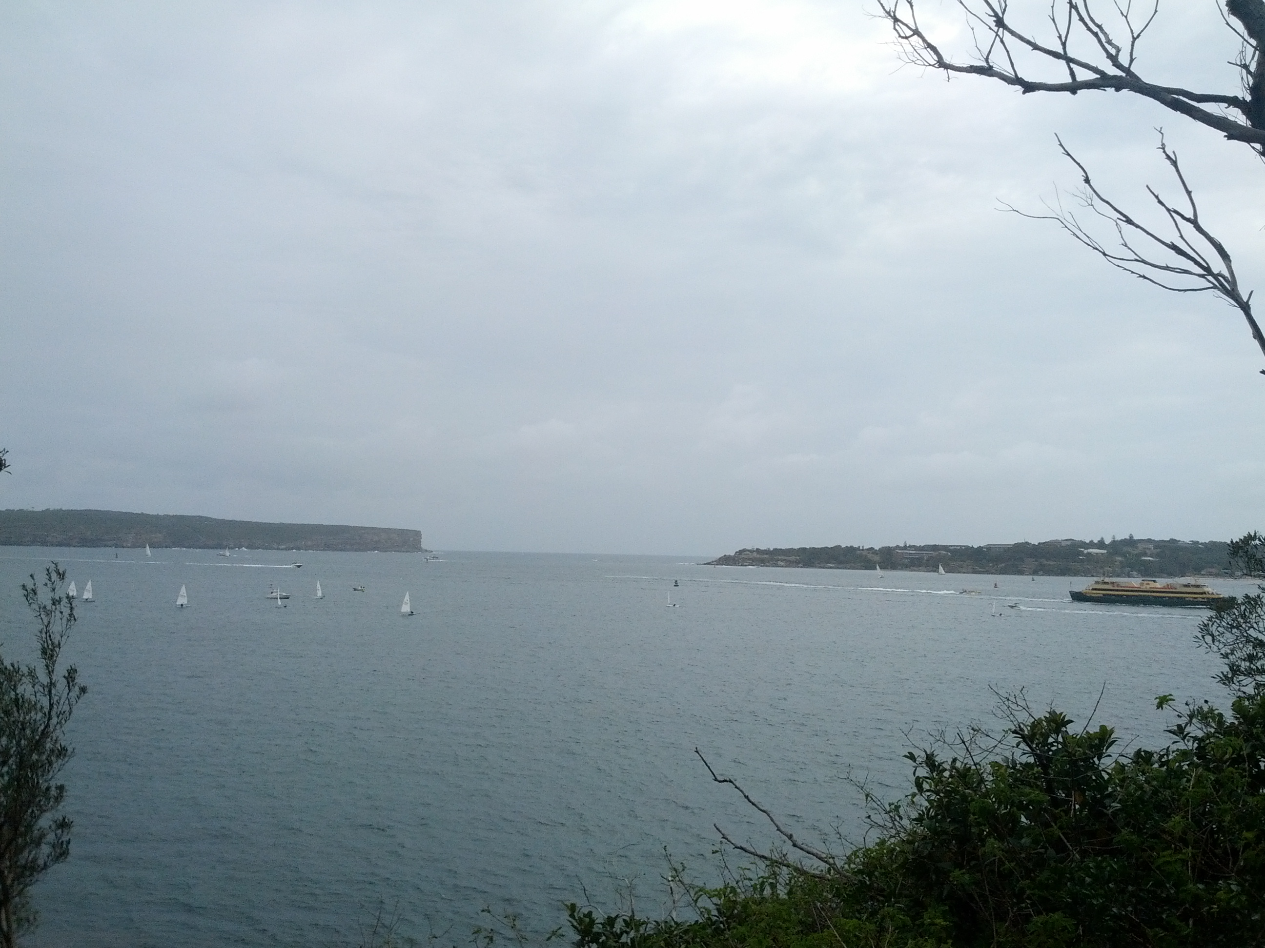 View out from Middle Head towards Sydney Heads, the entrance to Sydney Harbour.