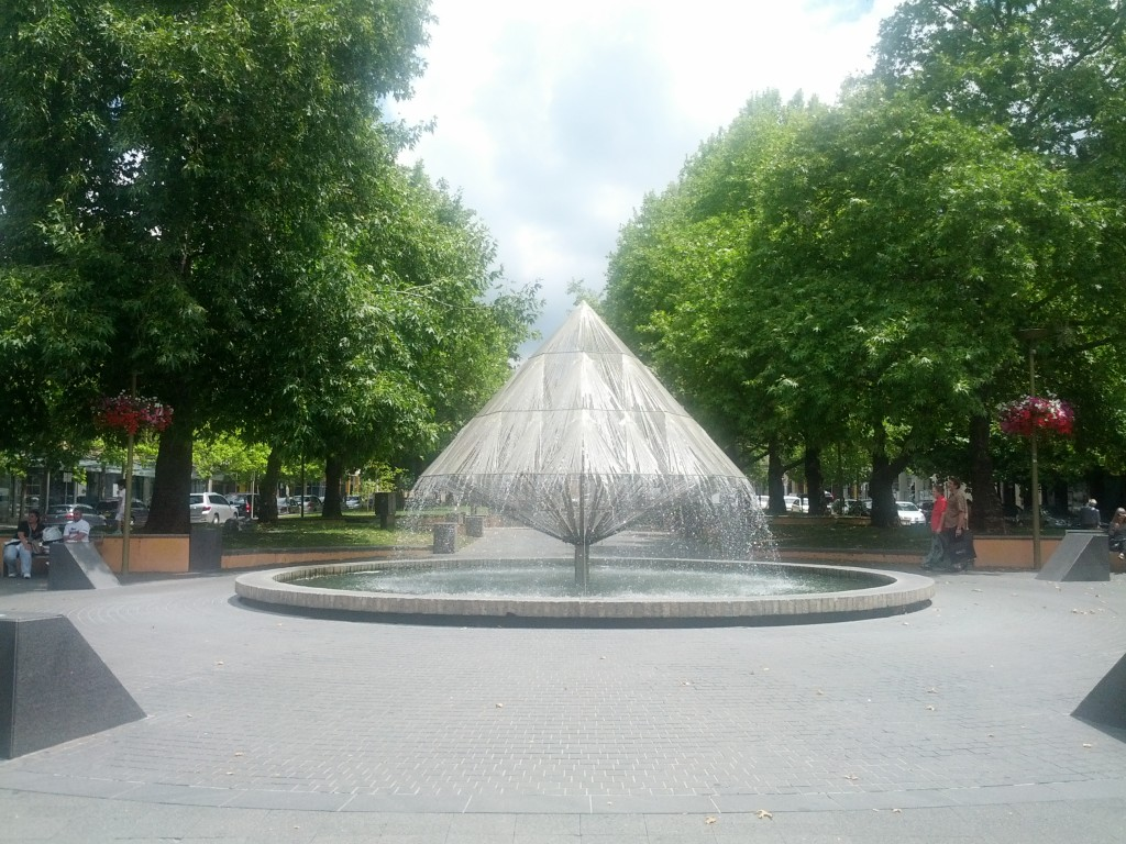 Neat fountain in town
