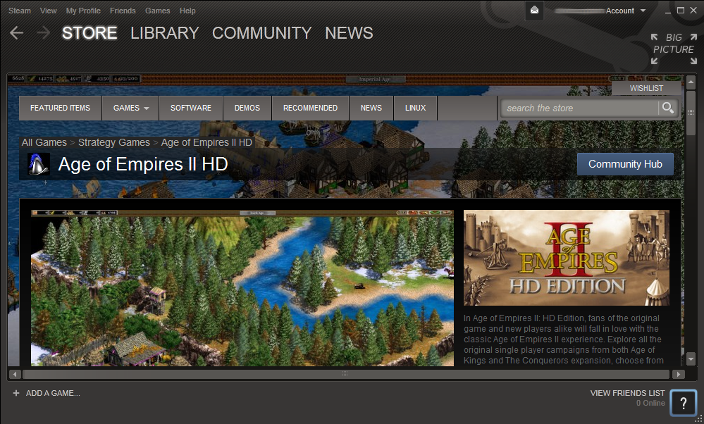 AOE 2 HD on Steam