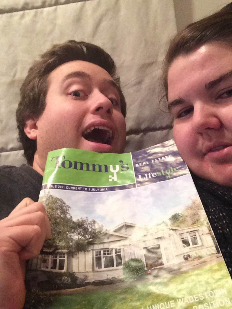 Our future home is on the front page of the latest Tommy's magazine.... too late buyers, it's our now!