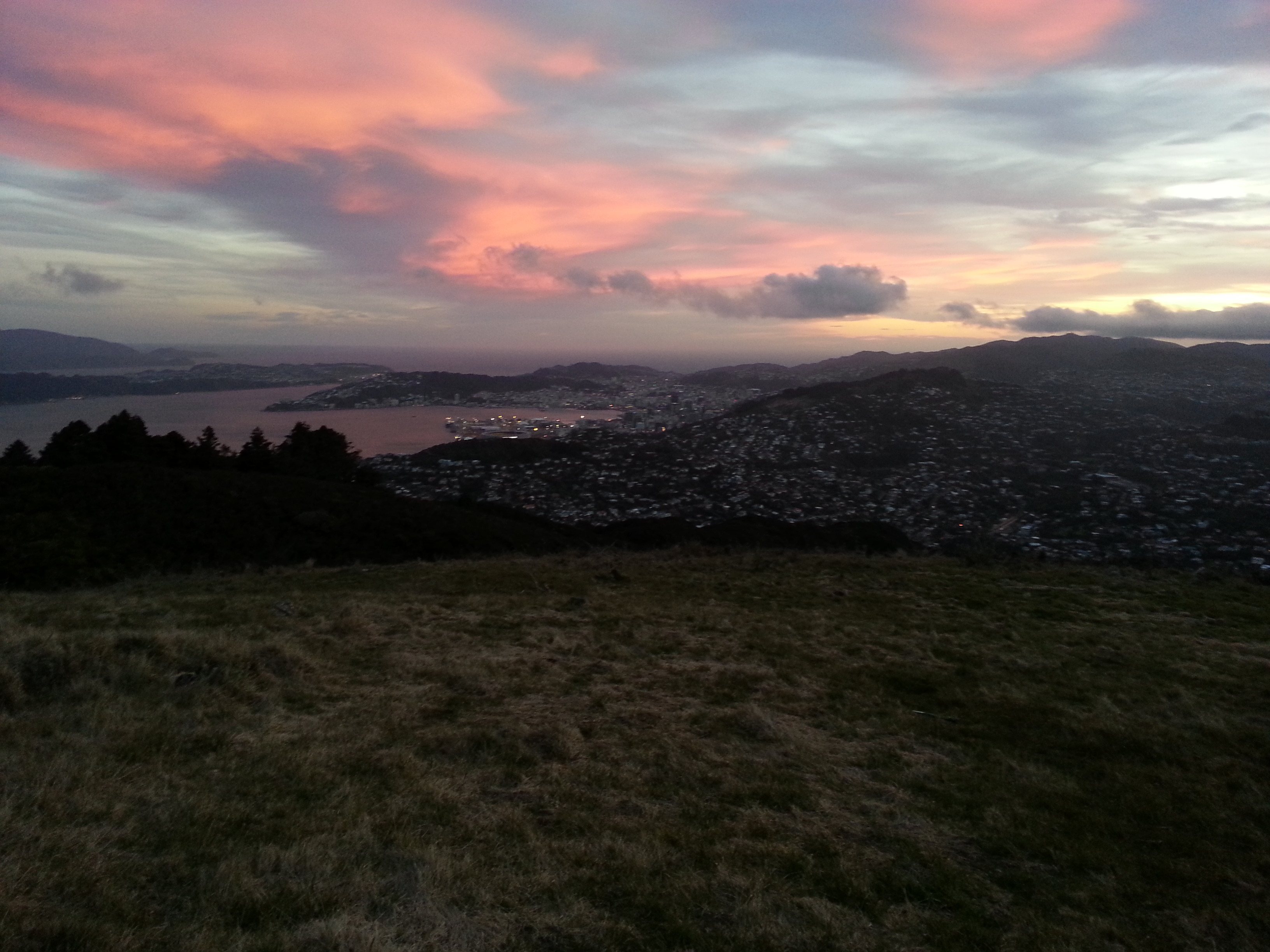 Sunset up on Mt Kaukau